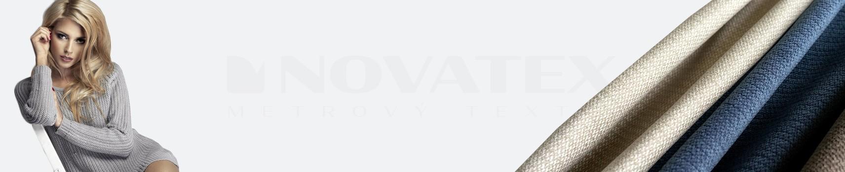 NOVATEX Metrový textil - Svetrovina - jednolíc,oboulíc,microfleec - hřejivá látka